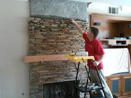 thin natural stone veneer installation fireplace youtube