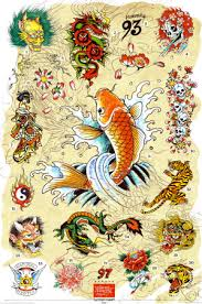 traditional japanese tattoo designs poster photos pictures and