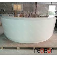 Fancy Reception Desk Fancy Style Artificial Marble Commercial Reception Counter Design