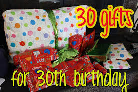 birthday gifts for elizabethany gift idea 30 gifts for 30th birthday