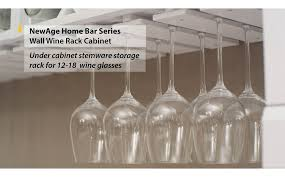 Wine Glass Storage Cabinet by Newage Products Home Bar Wall Wine Rack