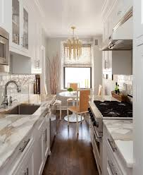small galley kitchen remodel ideas with white modern cabinet also