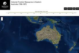 map new map new map records massacres of aboriginal in frontier wars