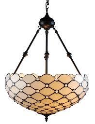 amora lighting am1117hl18 tiffany style ceiling hanging pendant