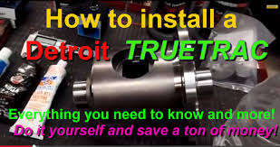 how to install a detroit locker truetrac limited slip differential