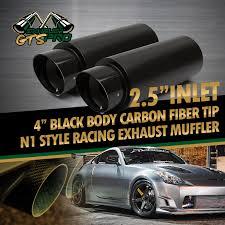 lexus es300h indonesia 2x usa n1 style throaty sound straight black exhaust muffler cf