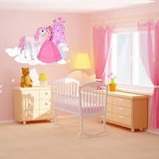 chambre cheval fille sticker princesse pour décoration chambre fille