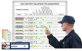 training tracker board ideal for fire departments magnatag