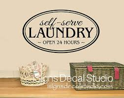 Laundry Room Hours - laundry room decals etsy