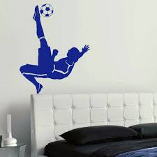 compare prices on wall stencils stickers online shopping buy low large football footballer wall mural pvc vinyl transfer art sticker stencil poster decal china