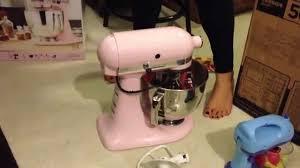 light pink kitchenaid stand mixer kitchenaid stand mixer unboxing pink youtube