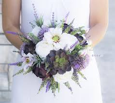 lavender bouquet eggplant succulent mix bouquet lavender sprays and blush tones
