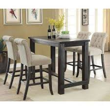 black and wood dining table black wood furniture of america kitchen dining tables