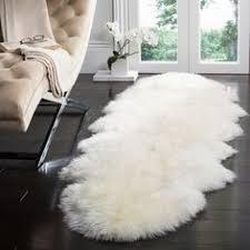 jungle sheep skin white rug 5 u0027 x 7 u00276 12945557 overstock com