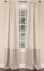 Lined Burlap Curtain Panels Emdee International Burlap Collection Button Drapery Panel U0026 Dec