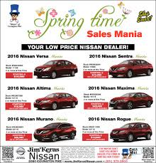 nissan altima 2016 rebates jim keras nissan spring time shopping ads from commercial appeal