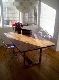 brushed nickel dining table barn door dining table on reclaimed brushed nickel legs