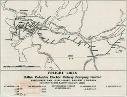Vancouver Canada Map by Freight Lines British Columbia Electric Railway Company Limited