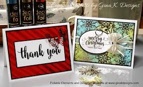k designs stamptv blog deco foil giveaway and a video