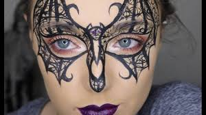 Halloween Makeup Butterfly by Lace Bat Mask Make Up Tutorial 31 Days Of Halloween Youtube