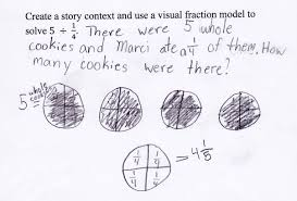 dividing a whole number by a fraction whole numbers divided by fractions students are given a division
