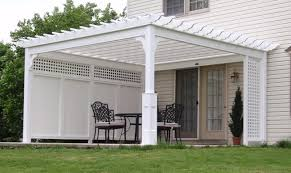 White Vinyl Pergola by Traditional Pergola Best In Backyards