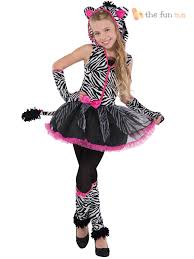 Halloween Costumes Girls Teens Age 8 16 Girls Teen Sassy Stripes Cat Zebra Halloween Fancy Dress