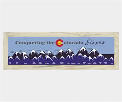 Map Of Colorado 14ers by Colorado 14ers Magnetic Map