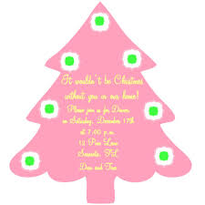 affordable winter pink christmas tree shape theme save the date