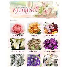 Wedding Flowers Guide Marketing And Resources Jet Fresh Flower Distributors Inc