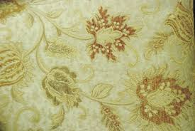 fabric sale cream and rust floral upholstery and home decor