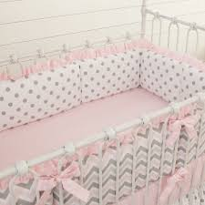Pink Chevron Crib Bedding Pink And Gray Chevron Crib Bumper Grey Chevron Crib And Babies