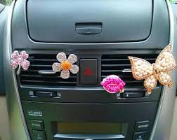 Car Decoration Accessories Car Bling Air Vent Clips Cute Alloy Horse Crystal Interior