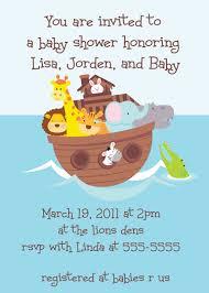noah ark baby shower baby shower invitations custom design baby shower invitations