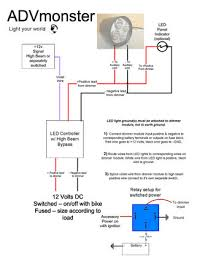 recommended wiring diagram with led controller advmonster