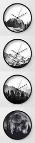 Home Decor Wall Clocks Minimalist Black And White Wall Clocks By Neptune Essentials On