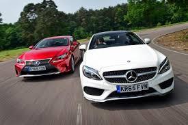 lexus better than mercedes mercedes c class coupe vs lexus rc auto express