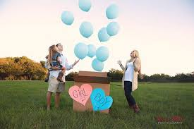 gender reveal balloons in a box ideas for gender reveal