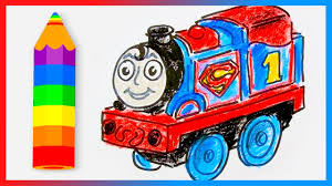 draw thomas train superman thomas friends