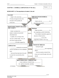 Elements Of Fiction Worksheet Worksheet 4 2 The Chemical Compound In The Cell Nucleic Acids Dna