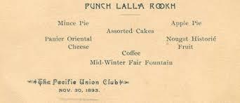 historic sf restaurant menus show what were on