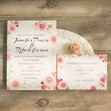 pink and gold wedding invitations pink floral gold foiled pistil wedding invitations