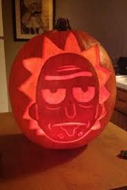 Meme Pumpkin Stencil - mr meeseeks de rick and morty frikinianos web de humor lol
