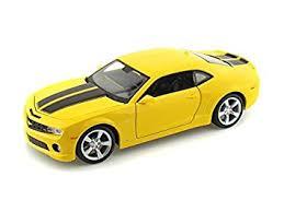 2010 camaro stripes amazon com 2010 chevy camaro rs ss 1 24 yellow w black stripes