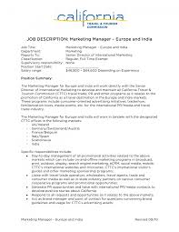 cover letter duties of sales and marketing manager duties of a