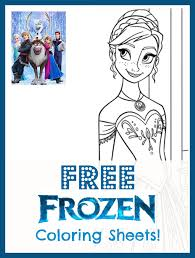 coloring pages frozen coloring pages free printable