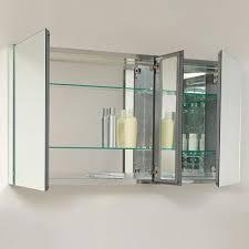 3 door medicine cabinet fresca 50 wide mirrored bathroom medicine cabinet 3 door with inner