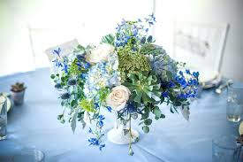 blue centerpieces blue and green flower centerpieces jar wedding centerpieces