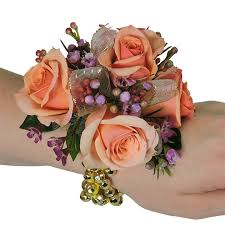 peach rose wrist corsage cbcpas03 u2013 flower patch