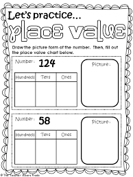 1st grade place value worksheets worksheets